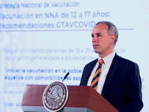 México vacunará contra la covid en octubre a menores con comorbilidades