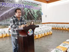 Productores agradecen al gobierno estatal y municipal por apoyos al campo