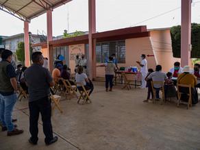 Los migrantes haitianos, los rezagados en vacunación en el sureste de México