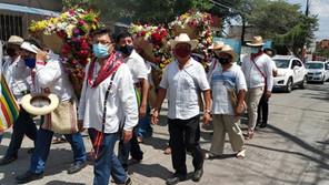 Celebran bajada de las Vírgenes de Copoya