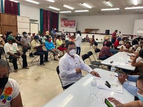 Juan Óscar Trinidad Palacios recibe vacuna contra el Covid-19