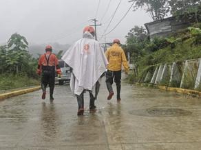 Ante lluvias torrenciales e intensas, PC brinda atención a la población