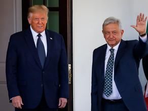"""Trump dice que relación entre Estados Unidos y México """"está mejor que nunca"""""""