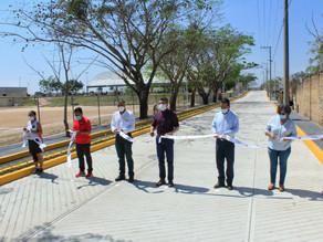 En Berriozábal, Gobierno inaugura calles y avenidas pavimentadas con concreto hidráulico