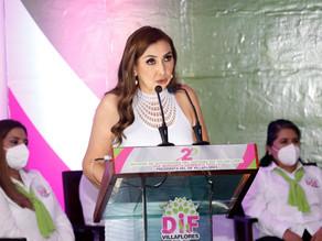 Margarita Sarmiento Tovilla rinde su Segundo Informe de actividades al frente del DIF Villaflores
