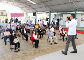 En Las Margaritas, entrega Rutilio Escandón apoyos para fortalecer la producción agropecuaria