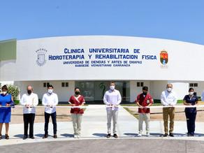 Inauguran Laboratorio de Hidroterapia de la Unicach, subsede Venustiano Carranza