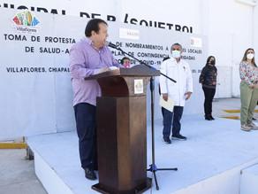 Villaflores establece el plan de contingencia de brigadas por rebrote de Covid-19