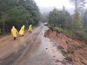 En Chiapas se continúa brindando apoyo a población afectada por lluvias