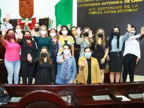 Se pronuncian diputadas contra la violencia política y violencia digital en Chiapas