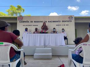 El DIF Villaflores dio inicio a la campaña de registro de nacimiento gratuito