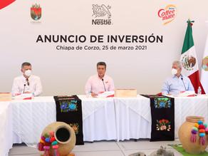 Anuncia Nestlé México inversión por 300 mdp para modernizar fábrica Coffee-Mate en Chiapa de Corzo