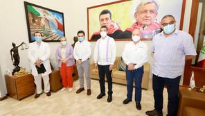 Rutilio Escandón y Zoé Robledo anuncian inicio de vacunación anticovid a adolescentes con comorbilid
