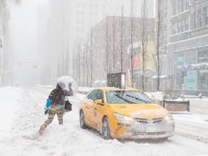 Un gran temporal cubre de nieve Nueva York