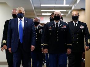 """Trump defiende el uso del cubrebocas como gesto """"patriótico"""""""