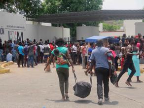 Disminuye número de migrantes en Tapachula