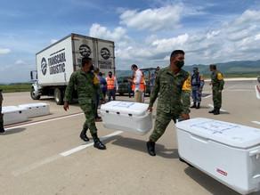 Arriban a Chiapas más de 121 mil vacunas anti Covid-19