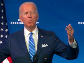"""Biden, sin """"tiempo que perder"""", anuncia plan para reflotar la economía de EU"""