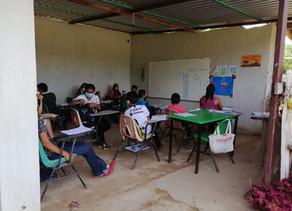 Alumnos de educación telesecundarias del municipio de Villacorzo retornaron a clases presenciales