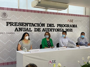 Garcia Macías y Romero Basurto, testigos en la representación del programa anual de auditorias 2021