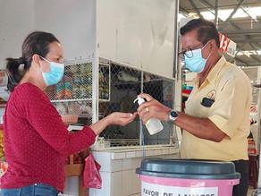Exhortan a mantener filtros sanitarios en mercados de Tuxtla para evitar riesgos de contagios