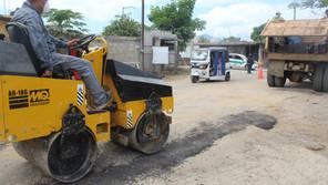 Mariano Rosales puso en marcha el Programa de Bacheo Emergente en Villaflores