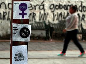 Mujeres realizan pintas contra Salgado Macedonio