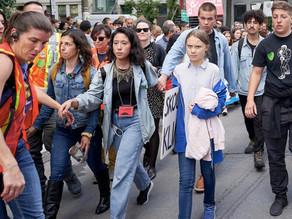 Se reúne Thunberg con Trudeau y encabeza marcha