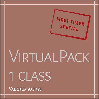 FIRST TIMER VIRTUAL PROMO: 1 CLASS