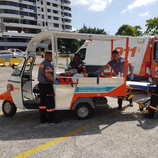 Vehículo para la atención rápida en grandes eventos y zonas de difícil acceso.