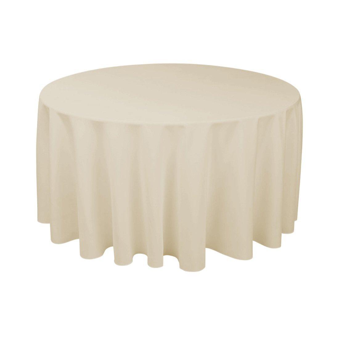 Beige Round Tablecloth