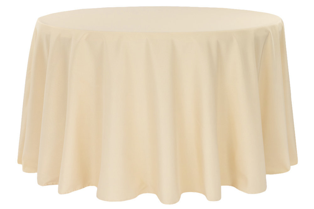 Champagne Round Tablecloth