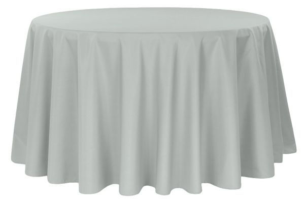 Silver/Grey Round Tablecloth