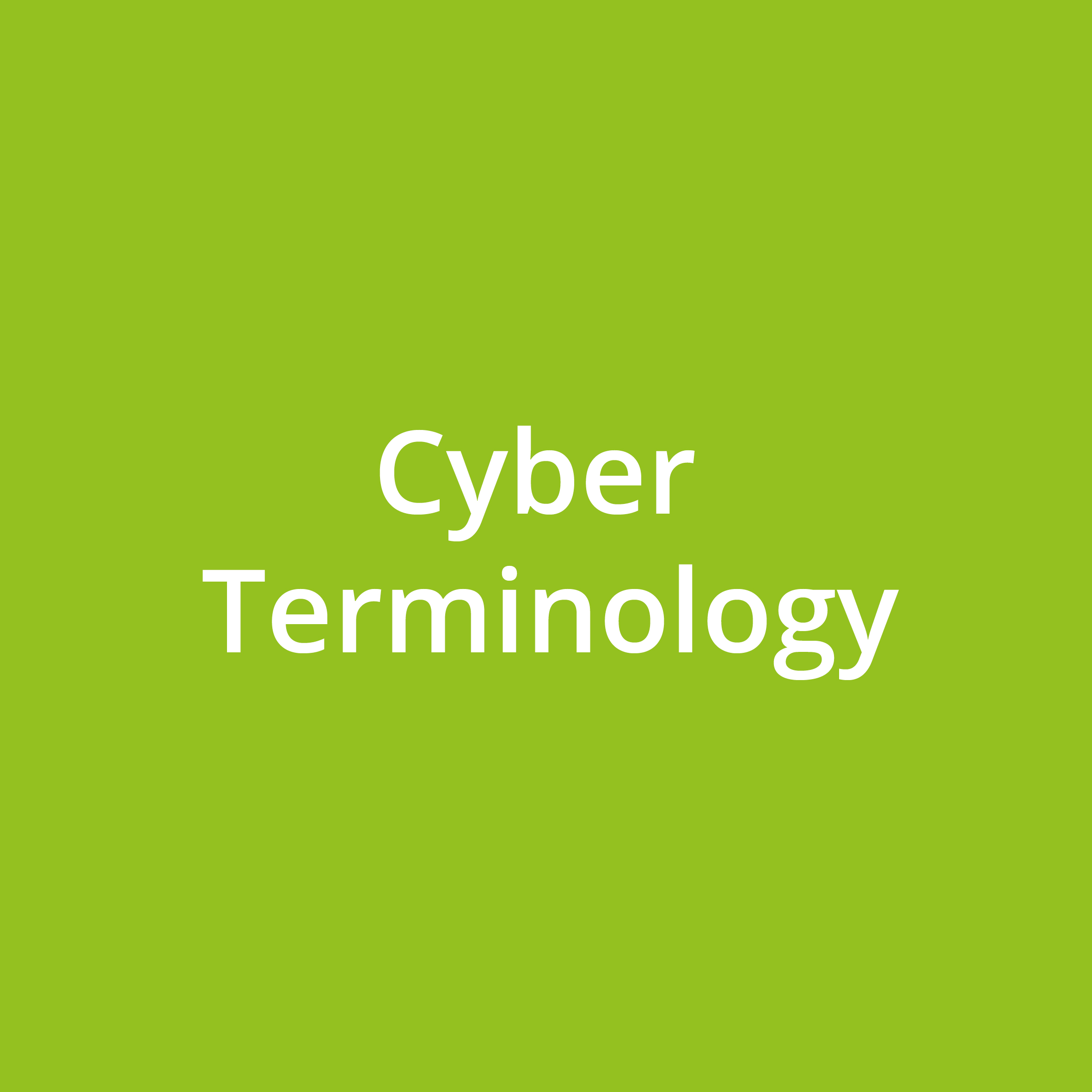 Cyber Terminology