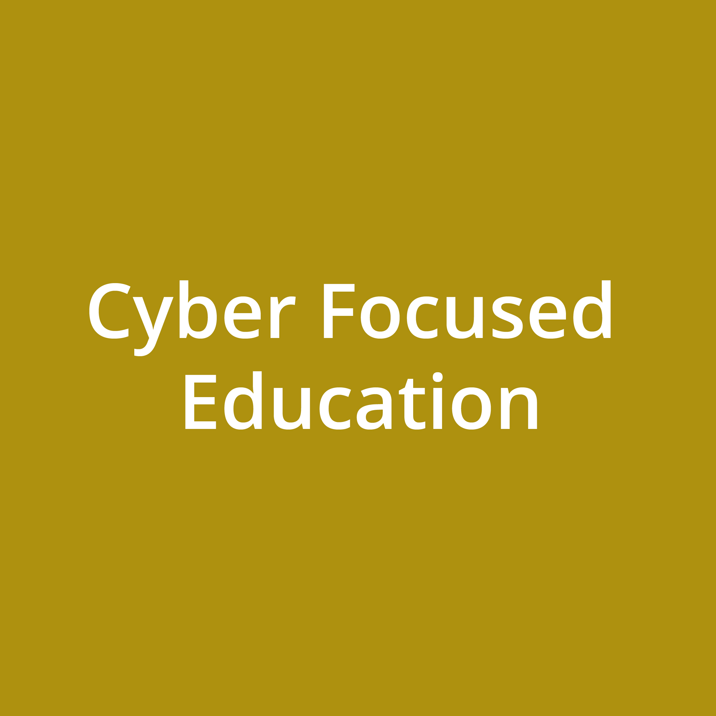 Cyber Focused Education
