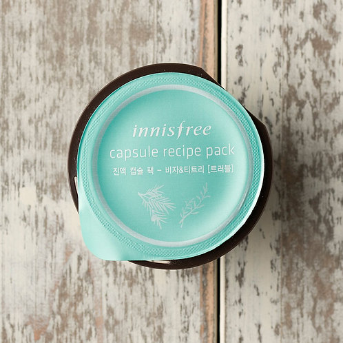 Innisfree Капсульная маска с маслом чайного дерева Capsule Recipe Pack Jeju Bija