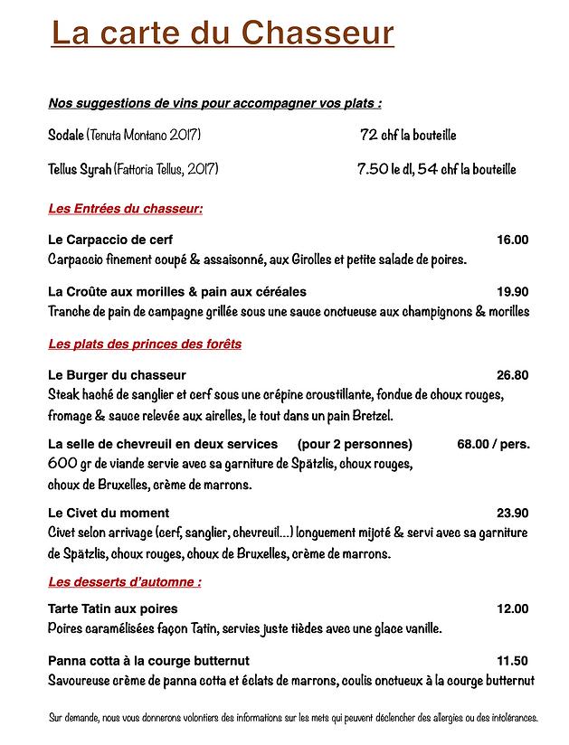 Carte chasse Au Boeuf Rouge Crassier