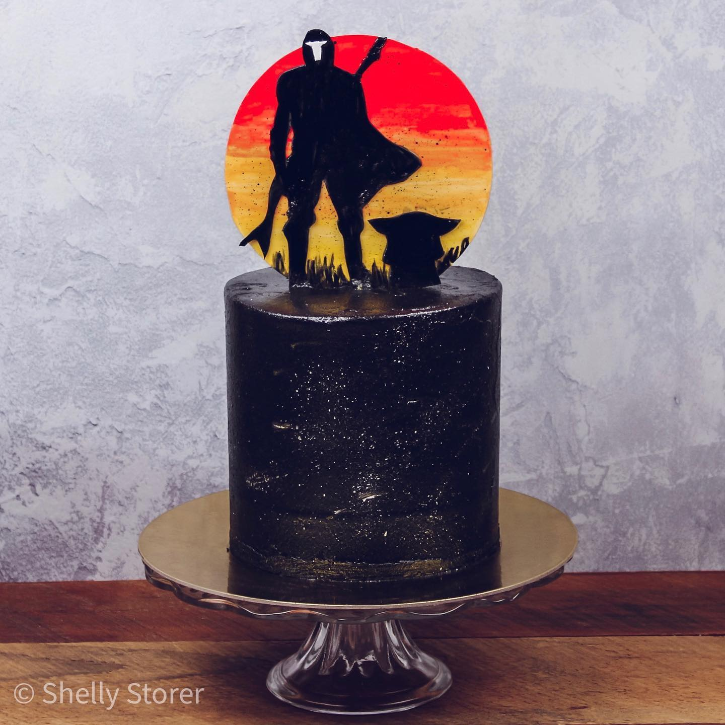 The Mandalorian Father's Day Cake
