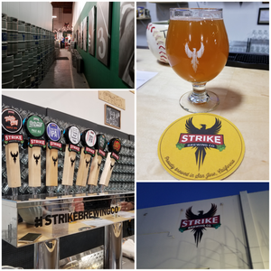 various images of strike brewing company in san jose california