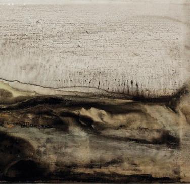 Aquarelle sur toile de lin 14x22cm