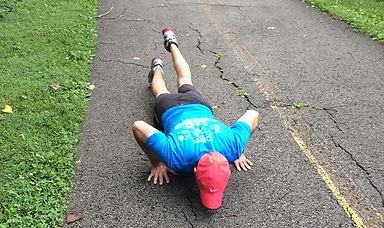LarryWalksFast doing pushups