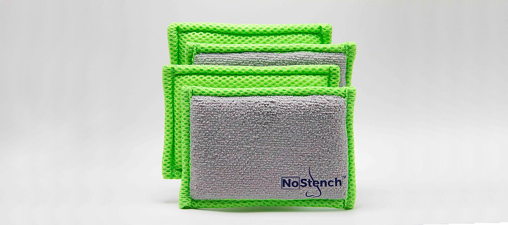 4 pack of NoStench® kitchen sponges