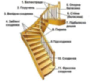 Загальна будова сходів