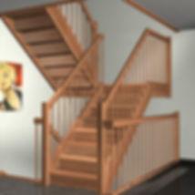 Приклад сходів на тетивах закритого типу.