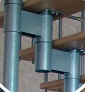 Приклад каркасу модульних сходів першого покоління.