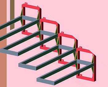 Каркас консольной лестницы.