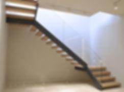 Лестница с одной тетивой. Пример.