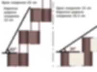 Варианты конструкции модульной лестницы.