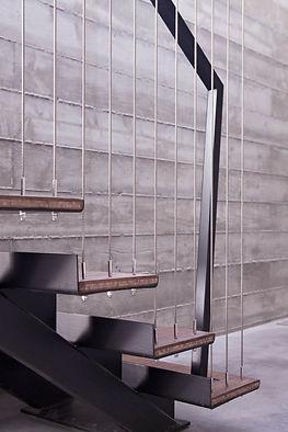 Консольная лестница на тросах.
