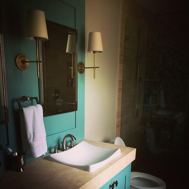 Guest bath drama #lindseyhannadesign #work #kohler #horchow